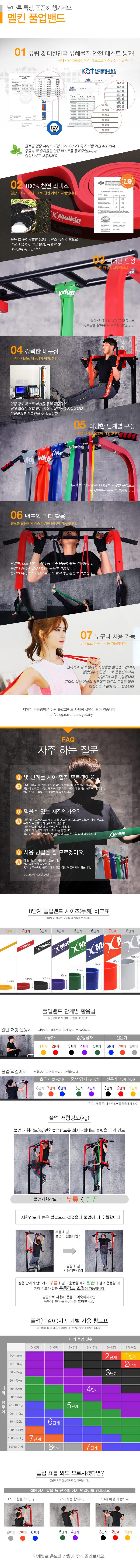 멜킨스포츠 풀업밴드 3단계 라텍스밴드 - 멜킨스포츠, 9,000원, 운동기구/소품, 운동소품